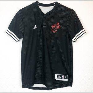 Adidas NBA Miami Heat Warm Up Shirt Youth Jersey L